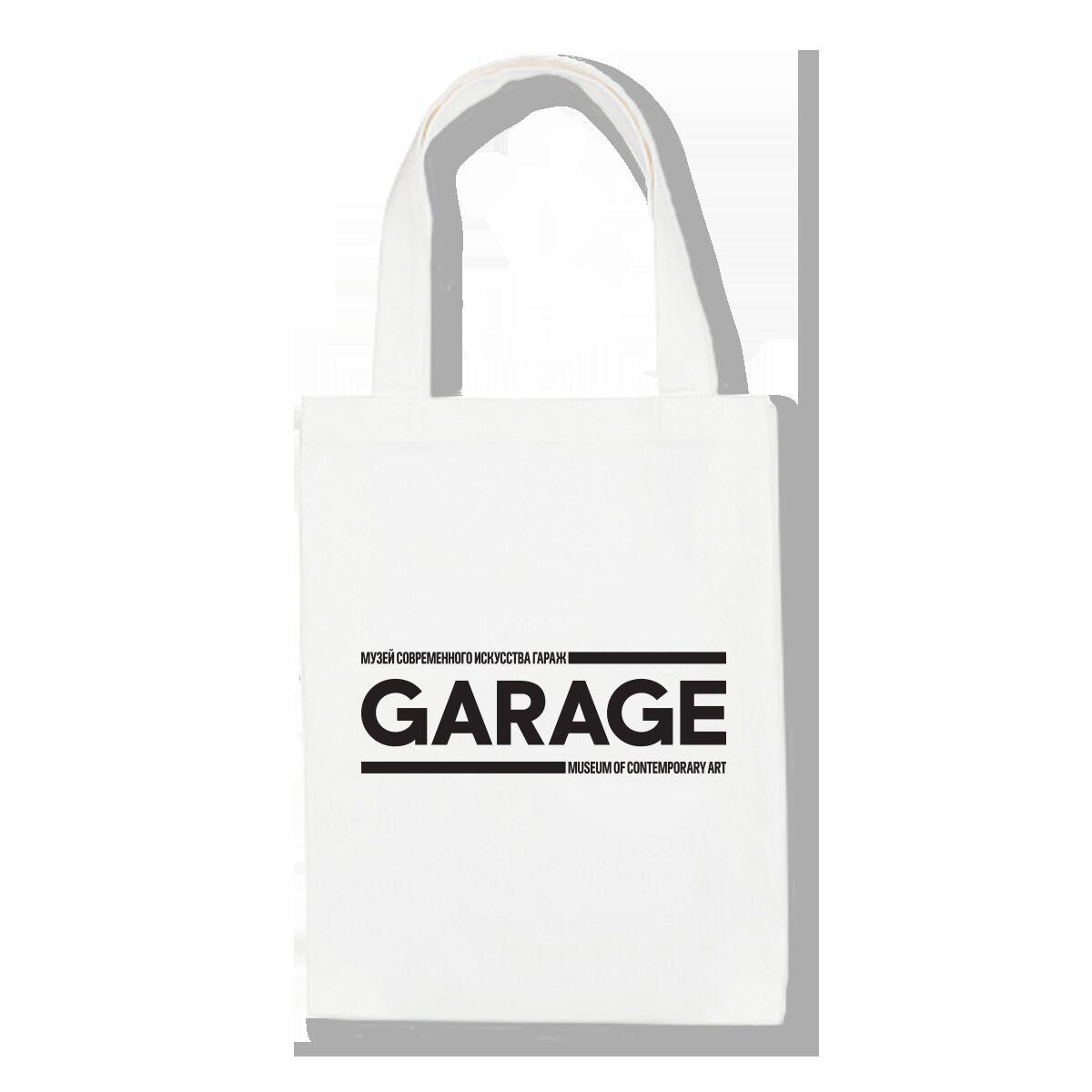 Сумка белая с логотипом GARAGE