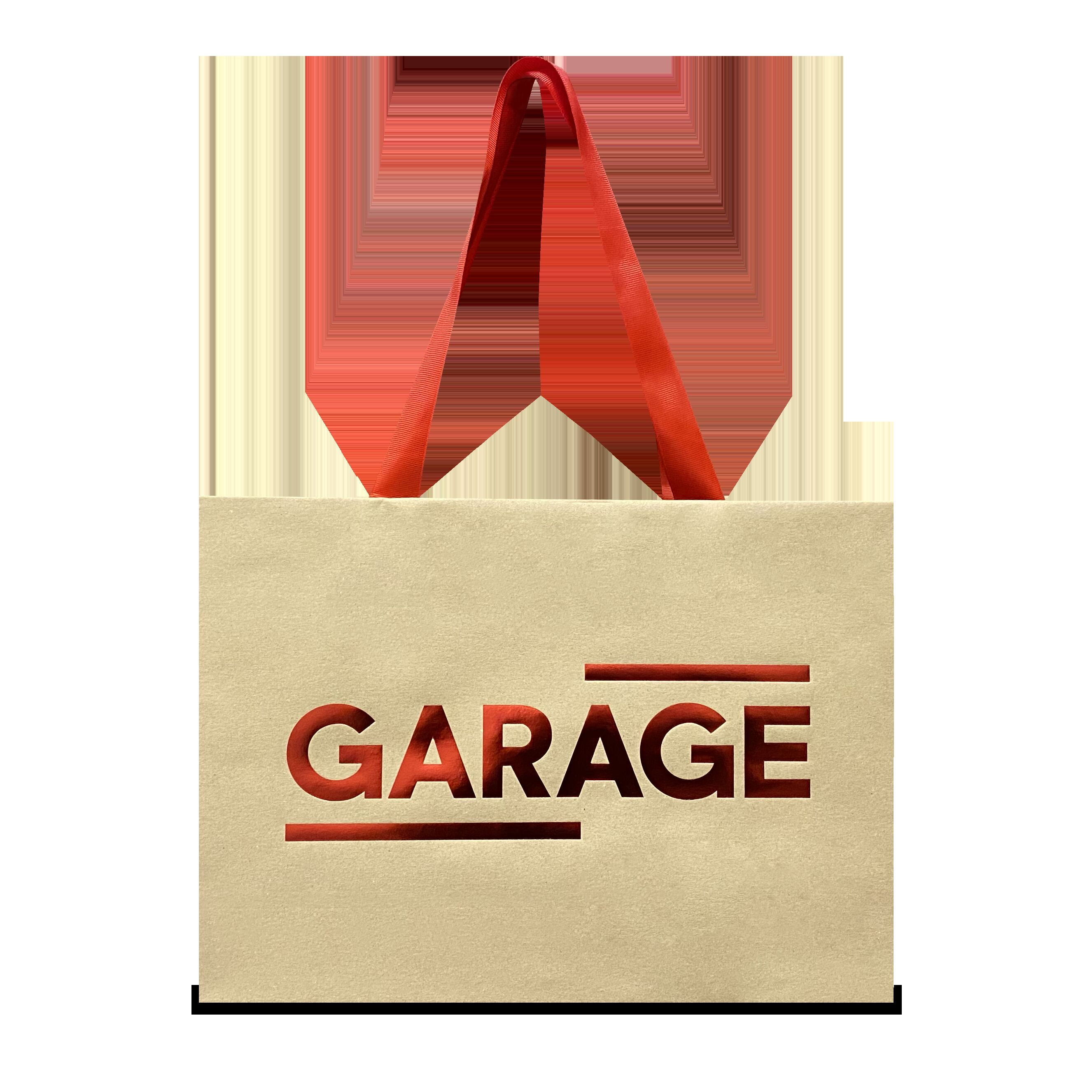 GARAGE gift bag, red foil