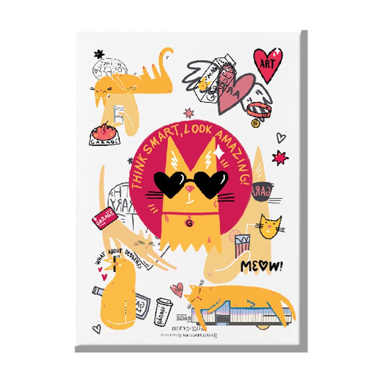 Garage Cat clear folder