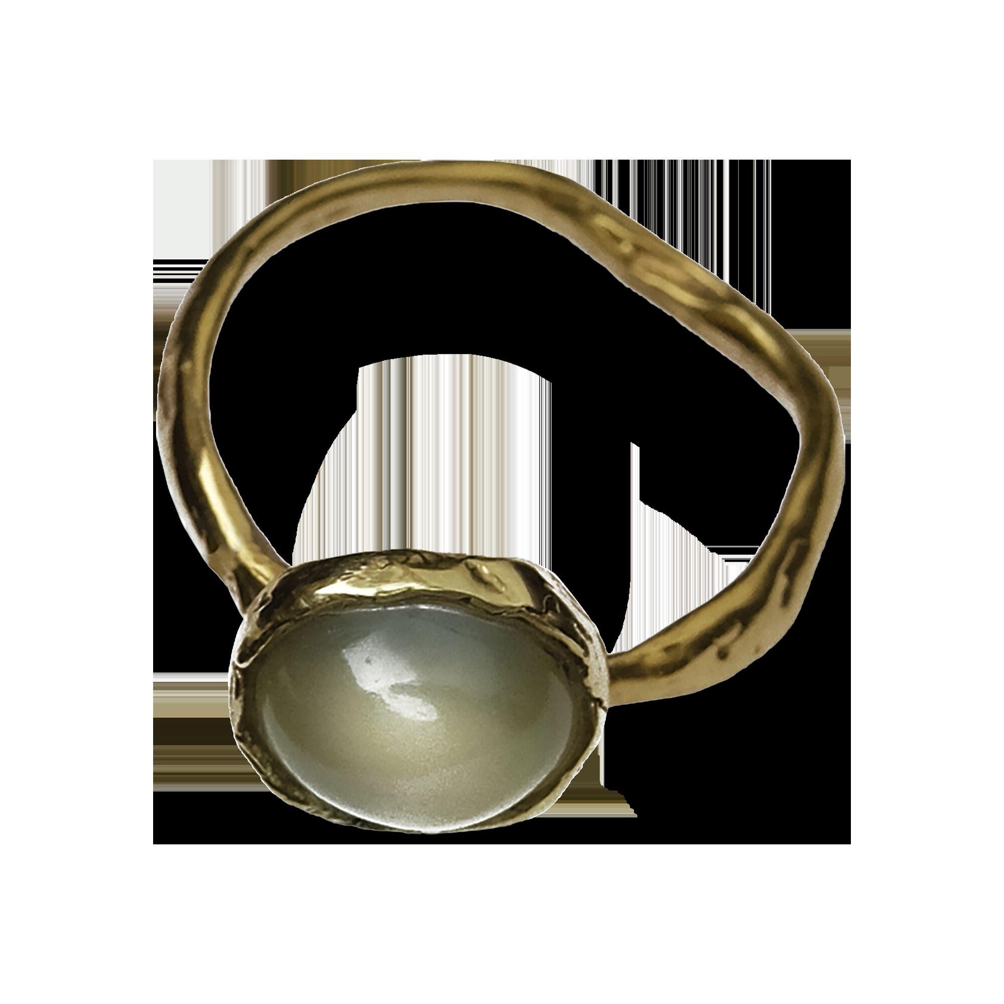 Кольцо с лунным камнем большое